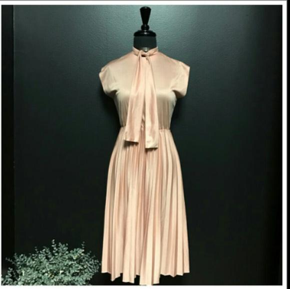 ff1fda38ff Dresses   Skirts - PIN Bow Beck Tie Midi Light Pink Cute Dress(Sz S
